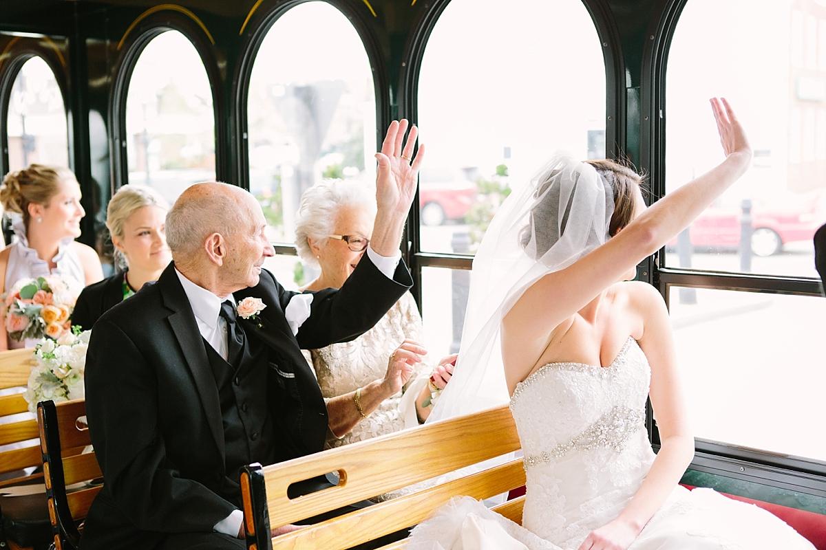 trolley weddings newport
