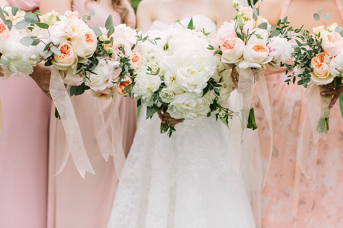 blush pink weddings newport