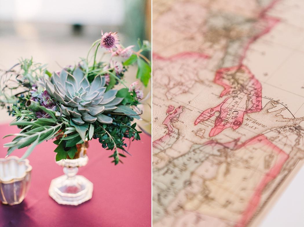 © Erin McGinn Photography map wedding ideas