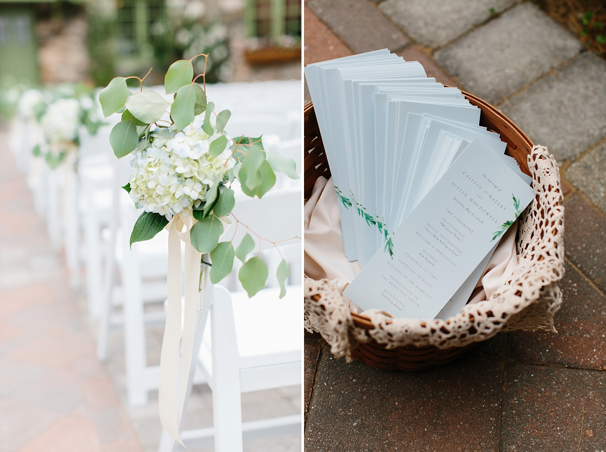 ice blue wedding details