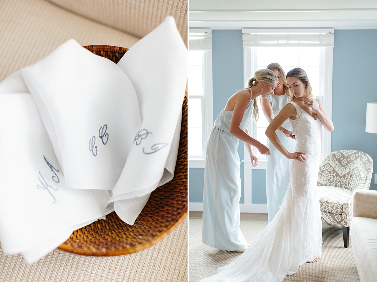 customized handkerchiefs and bridesmaids zipping dress