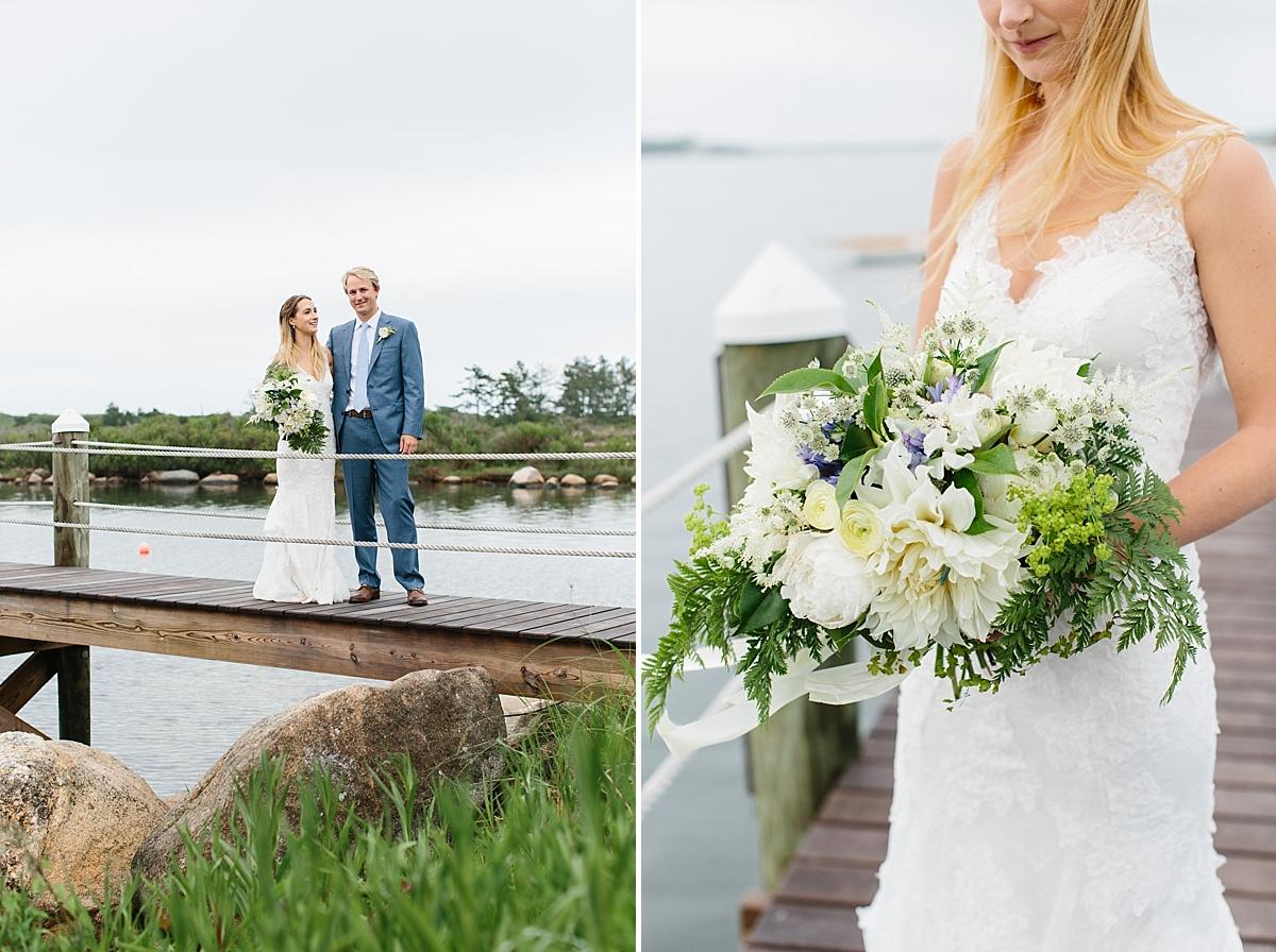 bride and groom pictures in weekapaug ri
