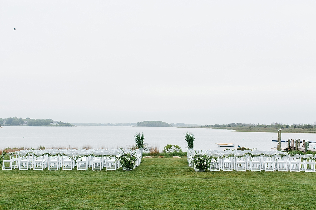 ceremony location at weekapaug inn