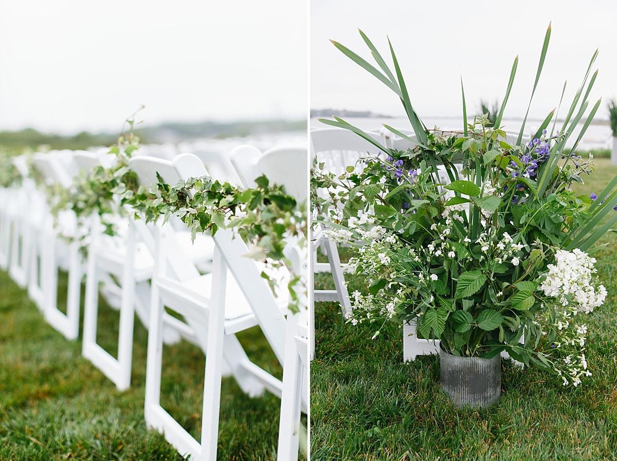 ceremony flowers weekapaug inn wedding