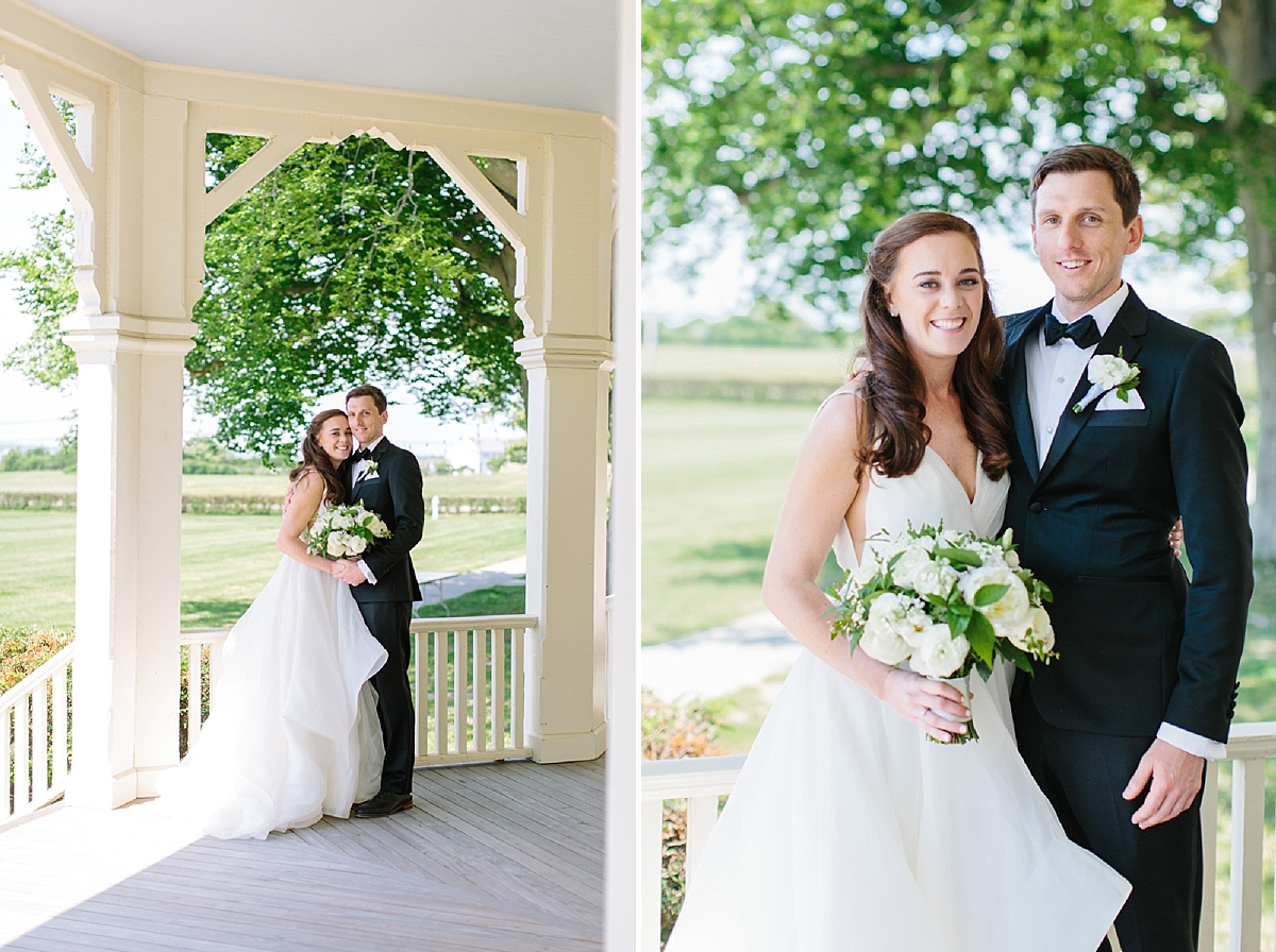 bride and groom photos at eisenhower house