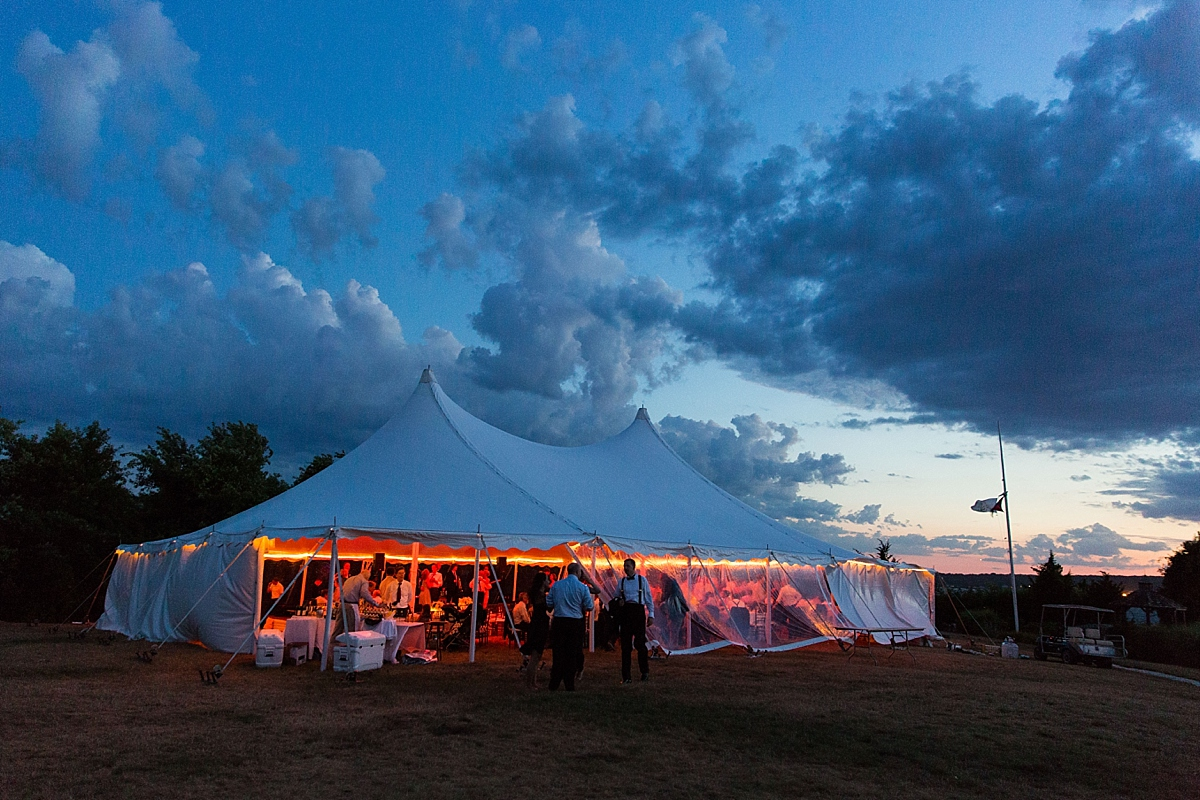wedding tent at carnegie abbey club