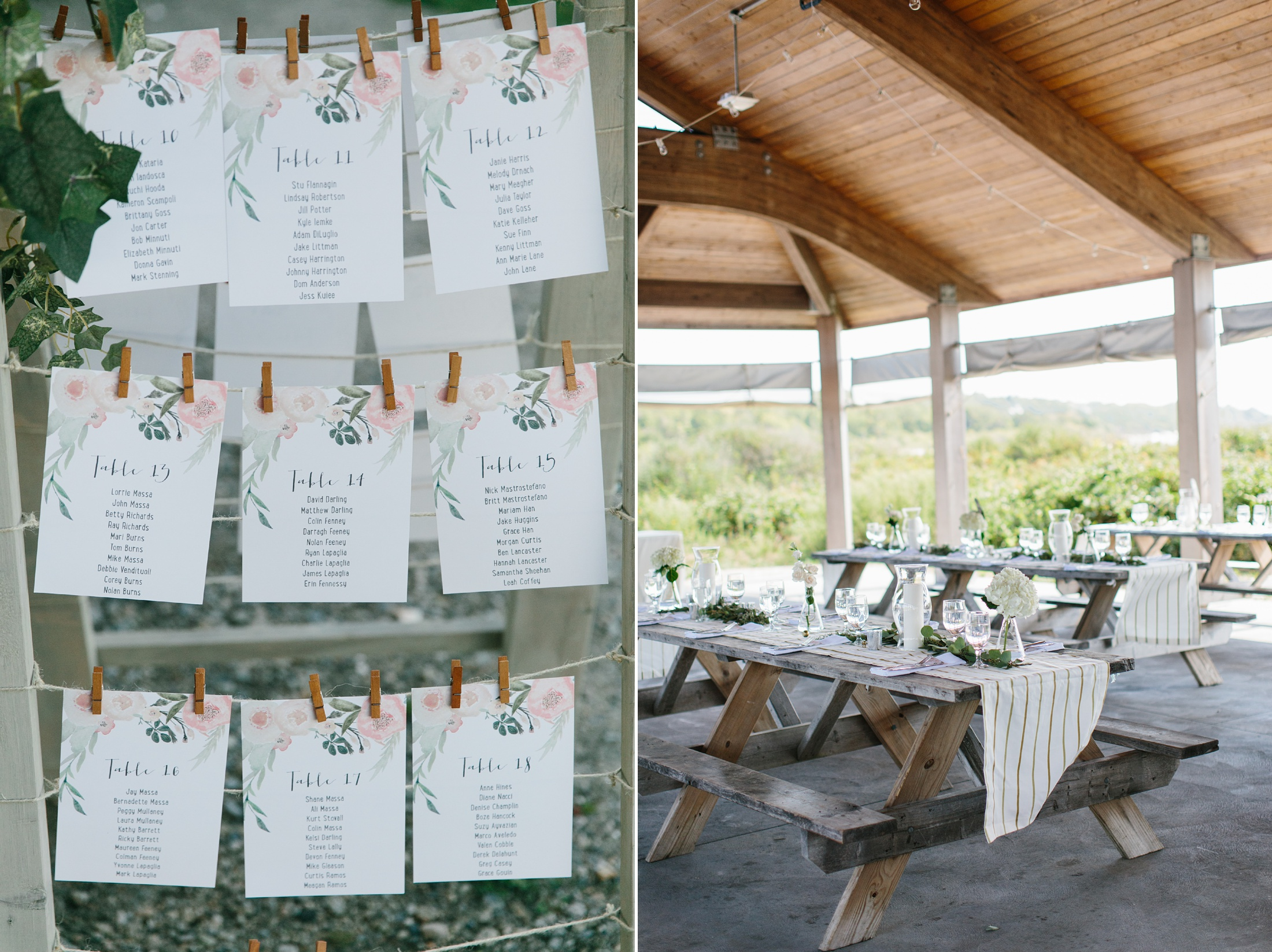 fort getty pavilion set for wedding