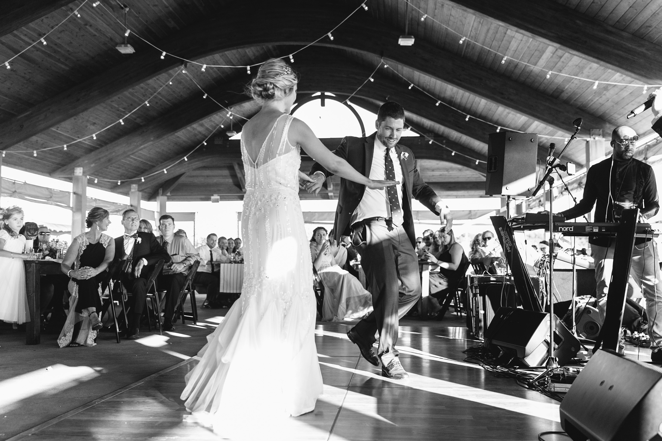 fort Getty pavilion first dance