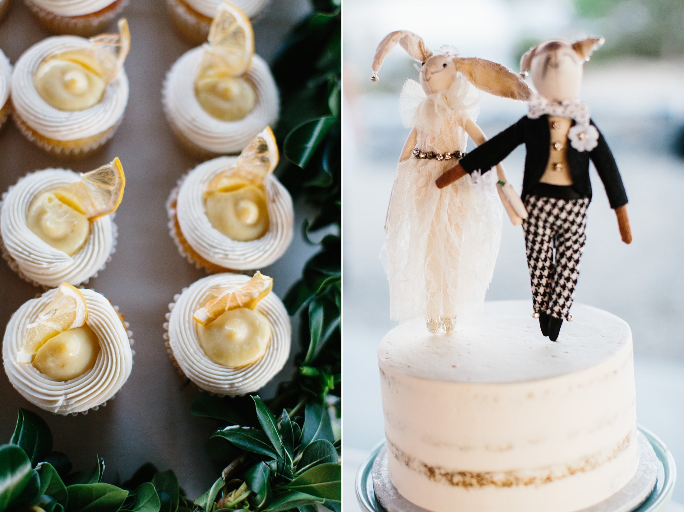 wedding cake with bunny topper