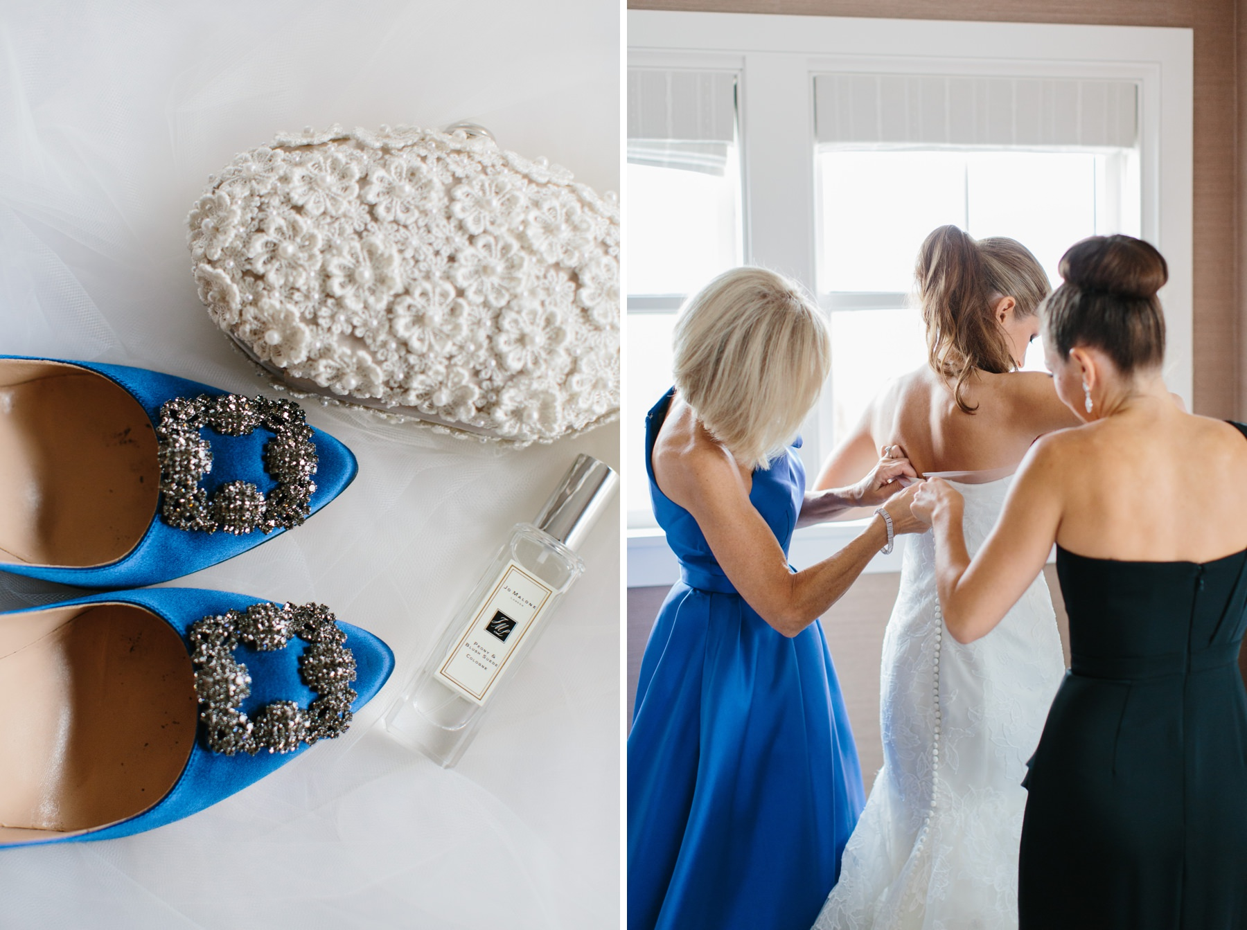 blue wedding shoes with jo malone