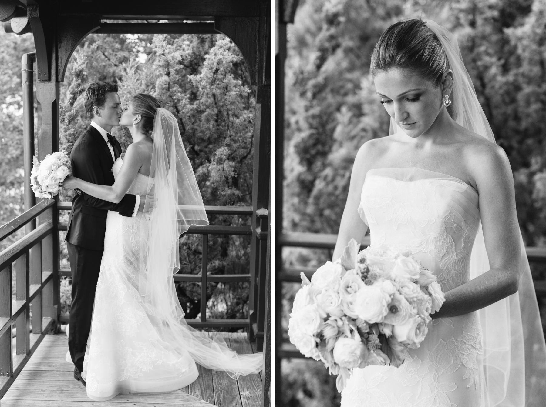 black and white bridal portraits in newport ri