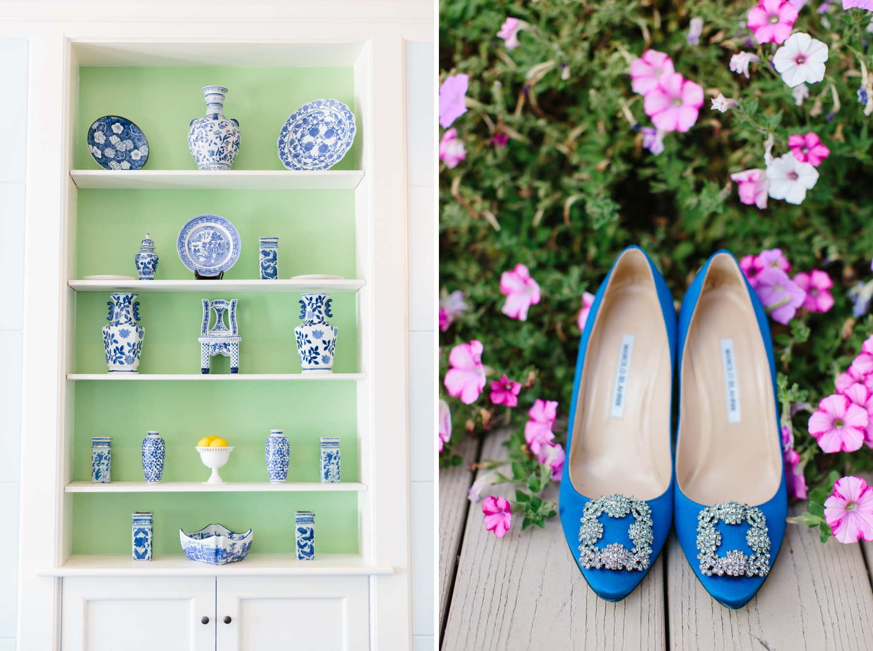 blue heels and ginger jars