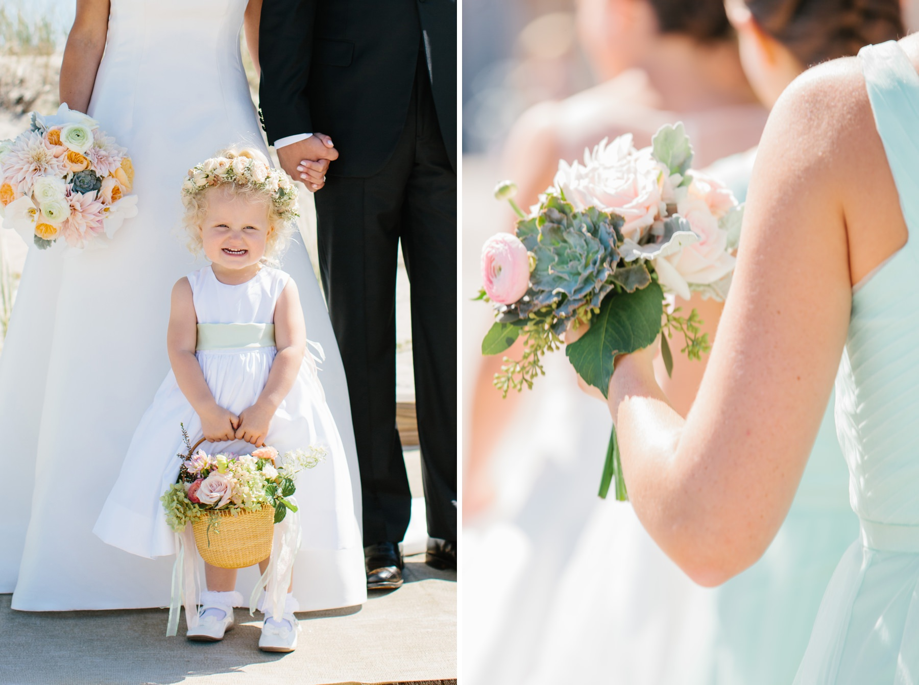 flower girl holding lightship basket