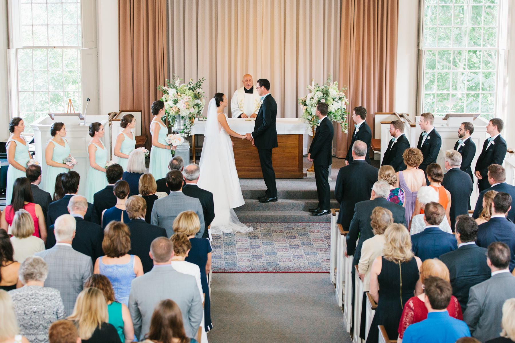 wedding ceremony at brown university chapel