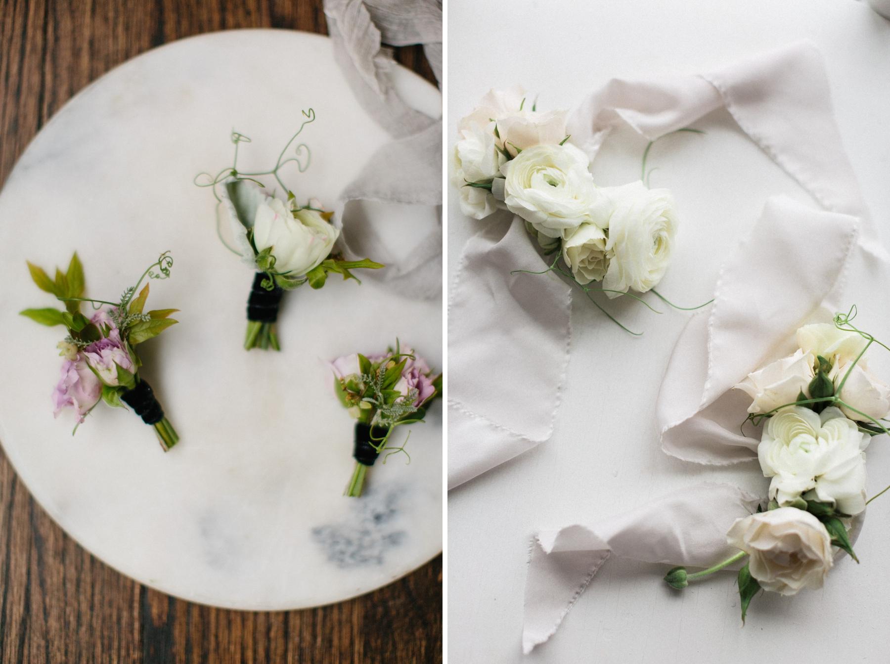ranunculus corsages for wedding
