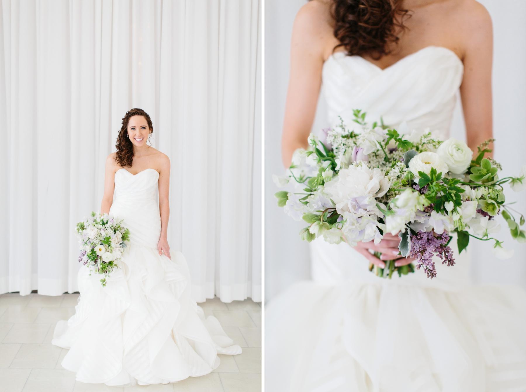 bride in belle mer salon
