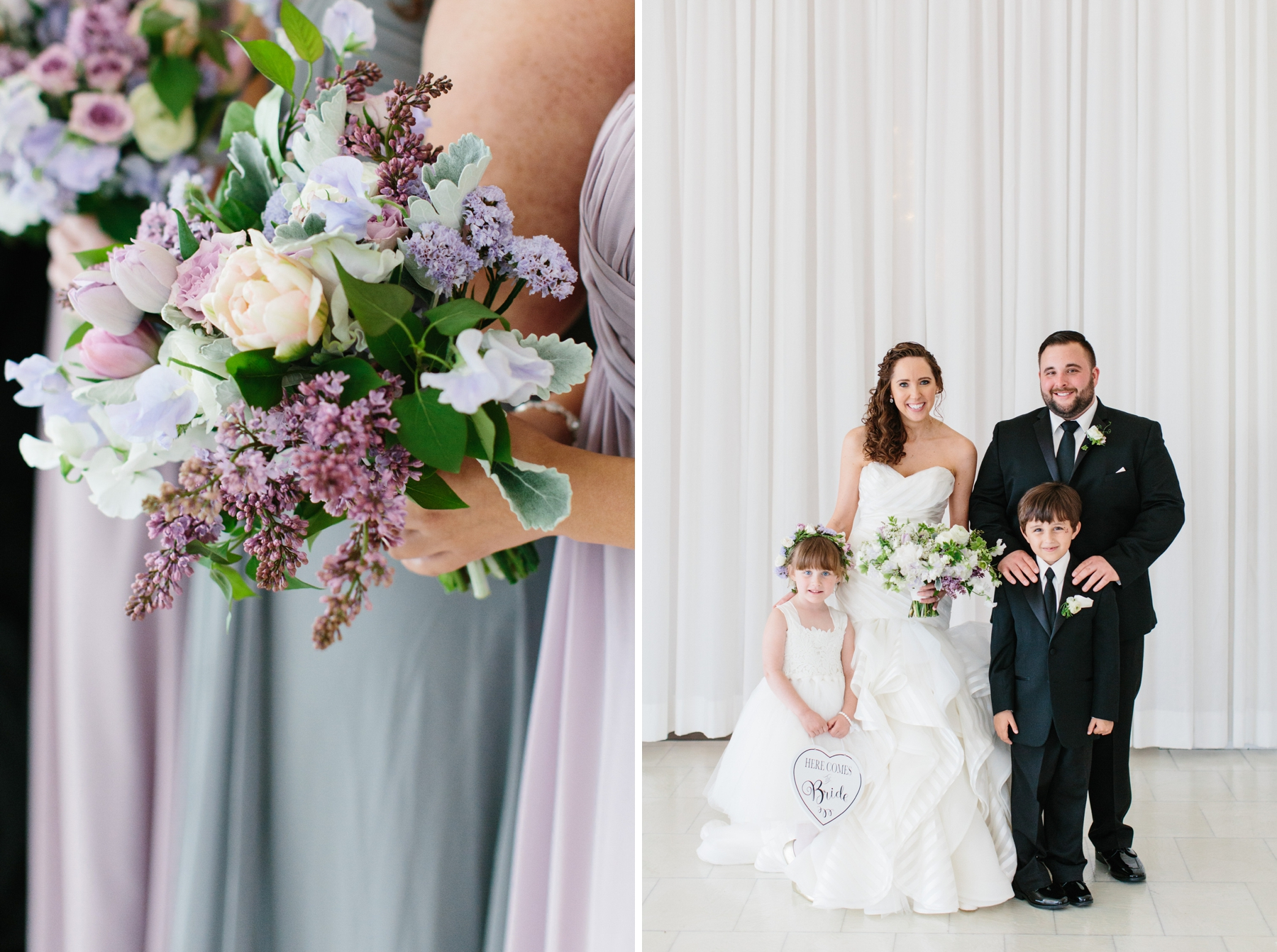 lilac and grey spring wedding belle mer