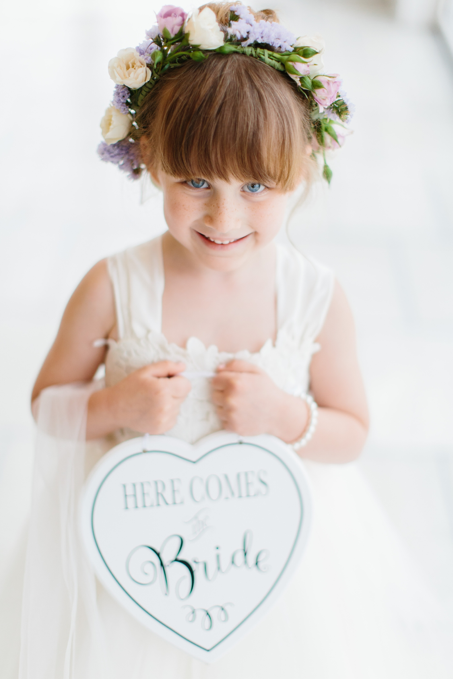 flower girl at belle mer
