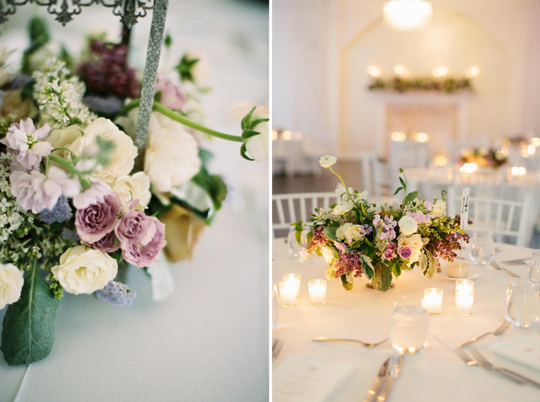 purple spring wedding flowers belle mer
