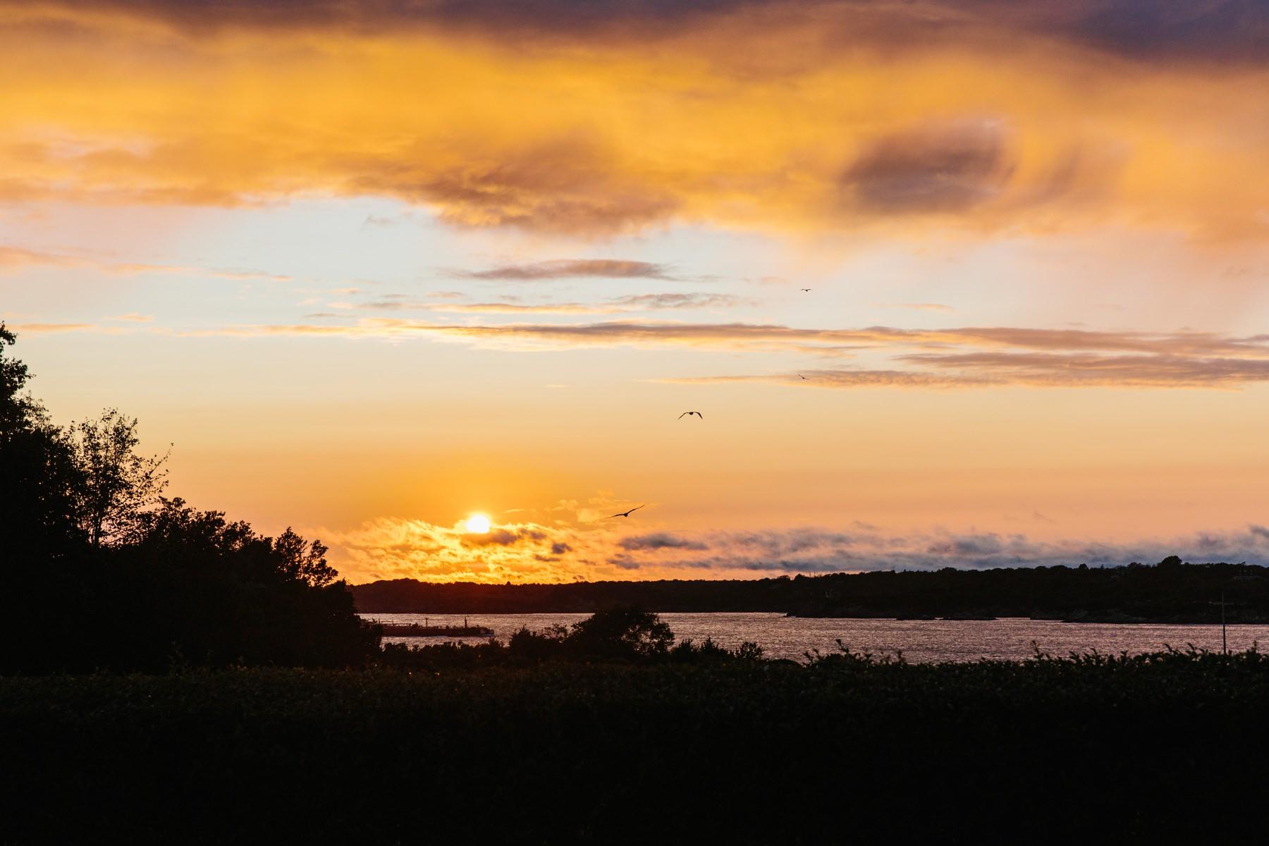 sunset at eisenhower house