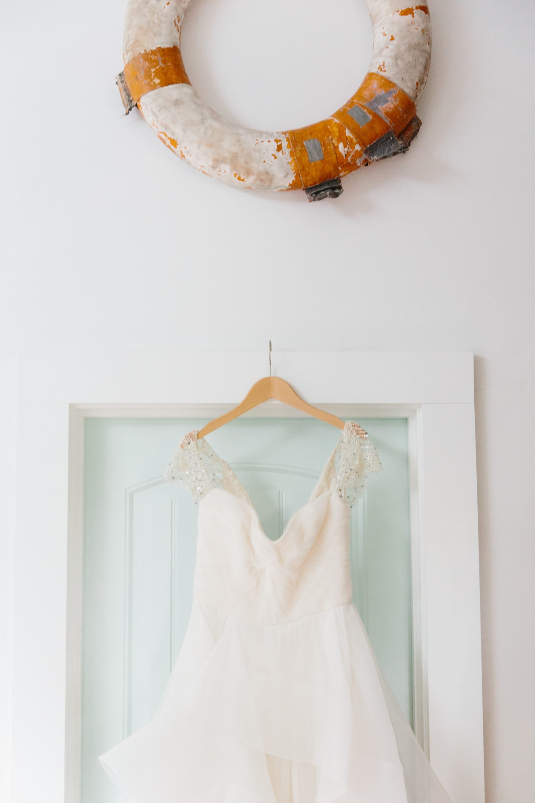 nautical wedding dress photo