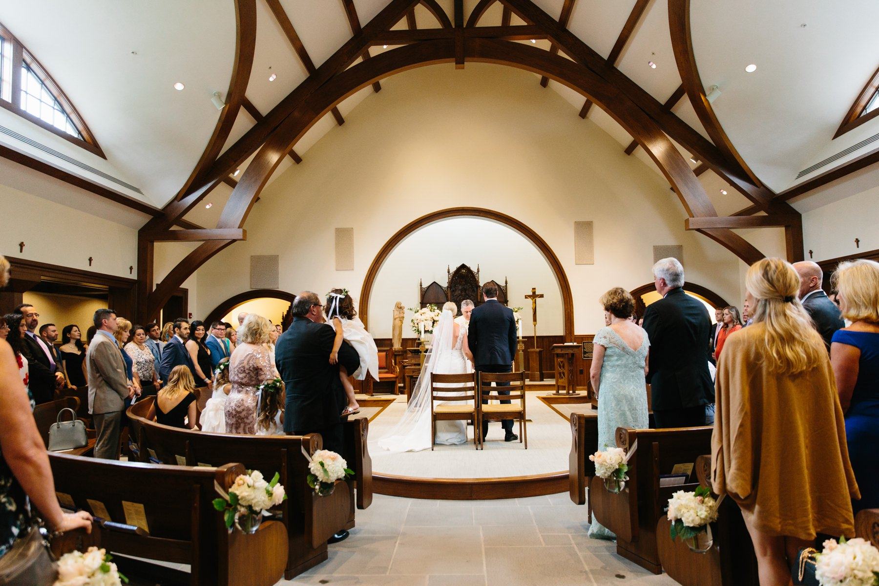 salve regina wedding ceremony