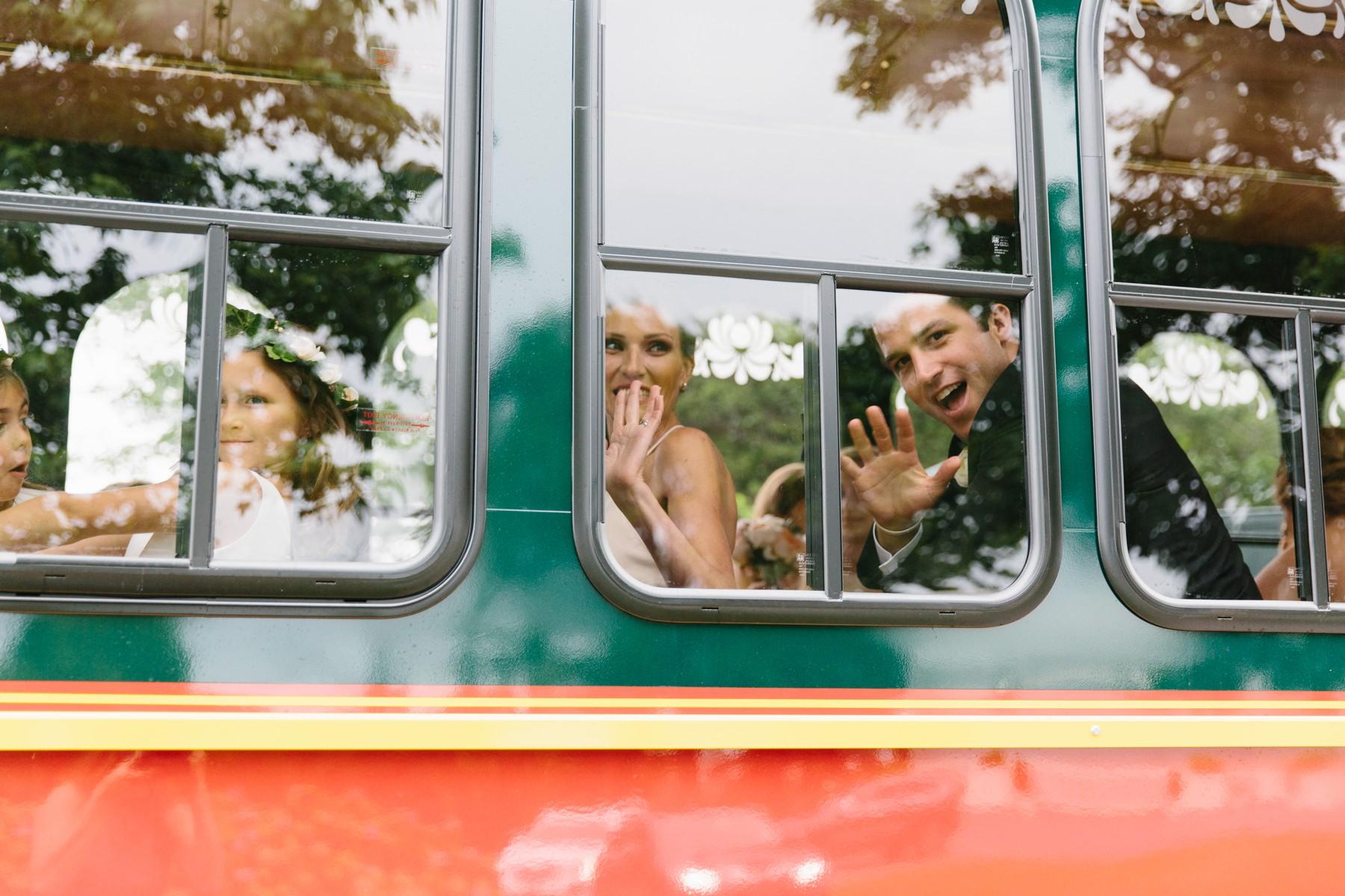 trolley bridal party