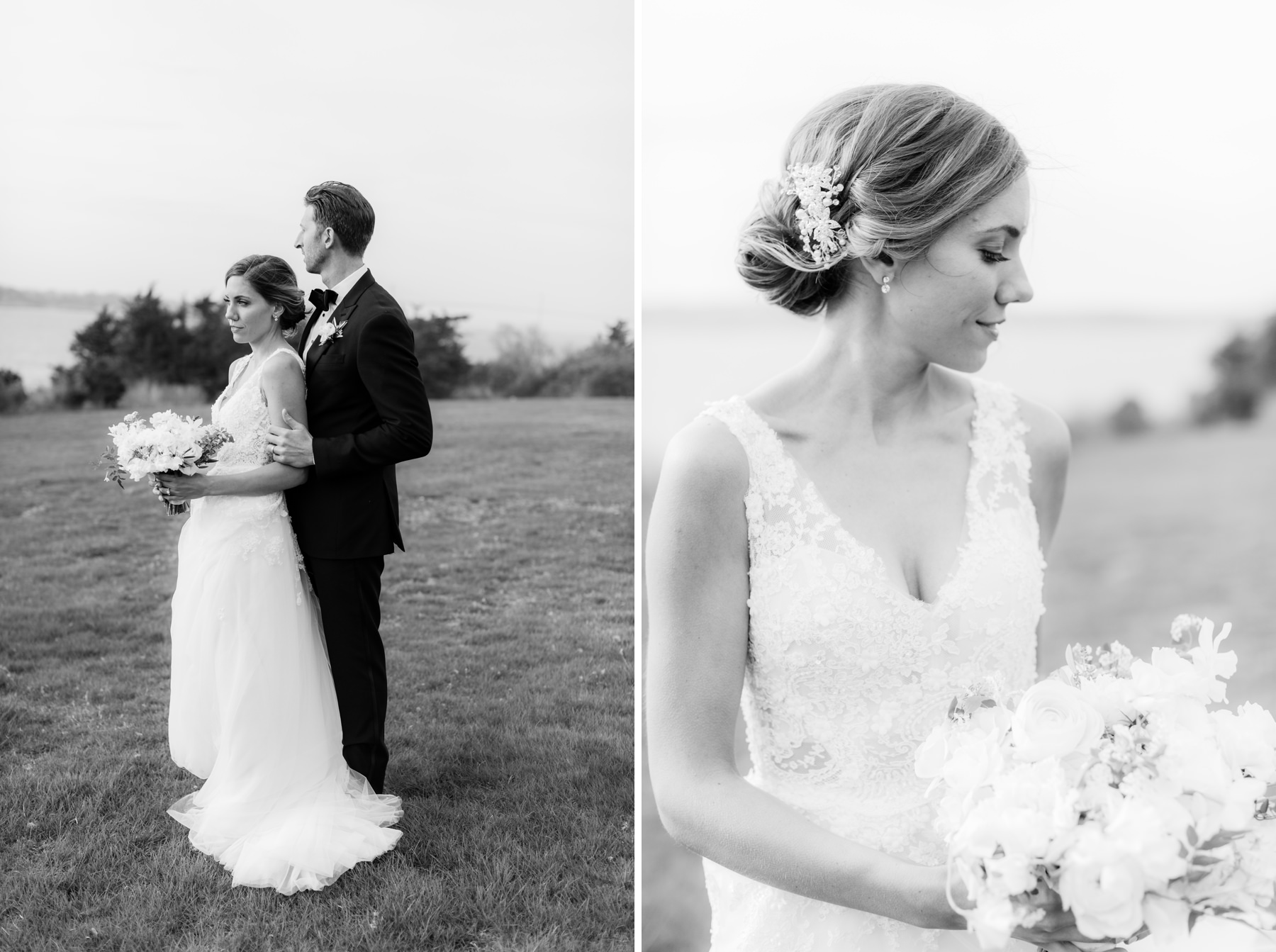 black and white classic wedding portrats