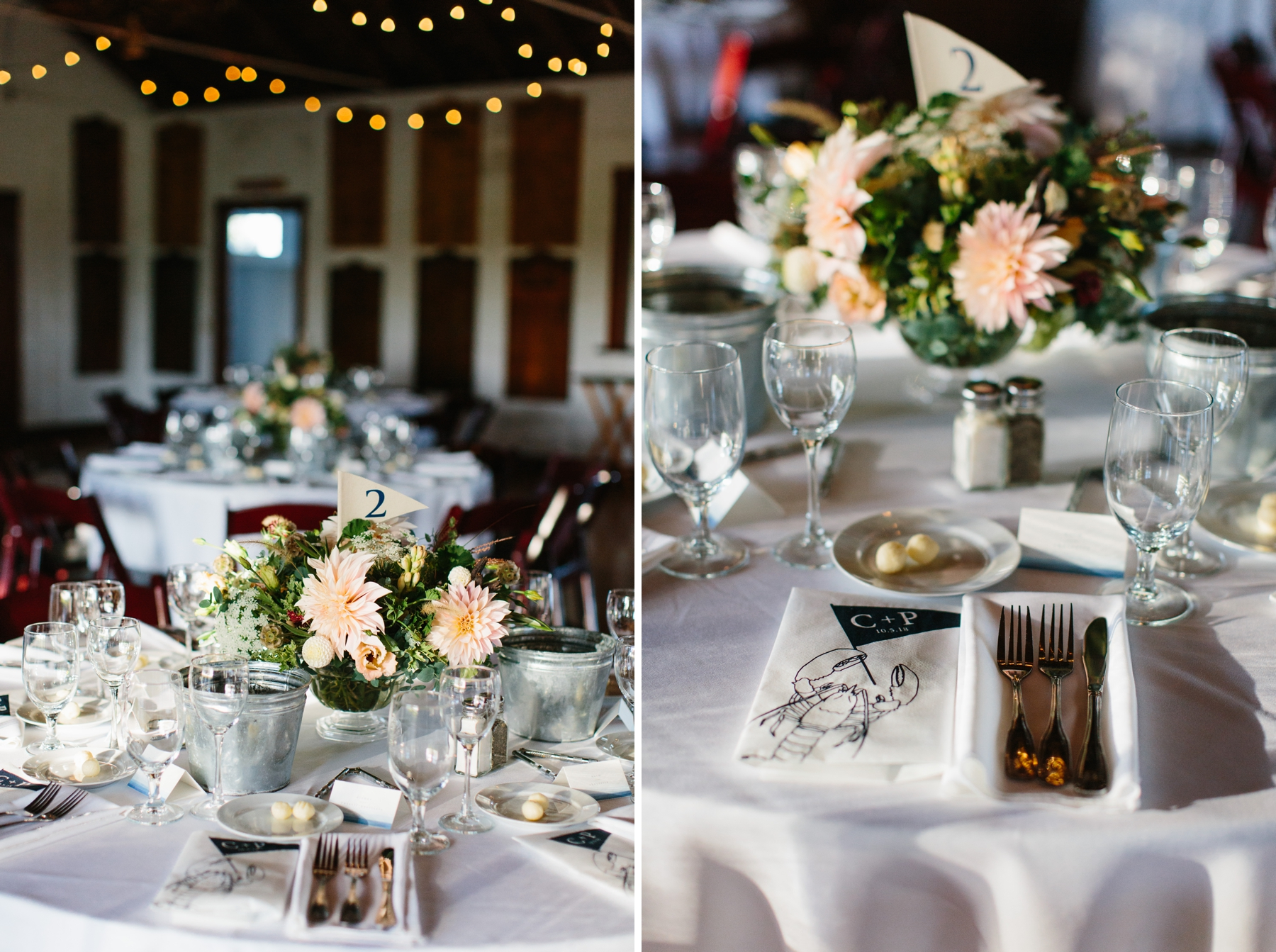 casual rehearsal dinner florals