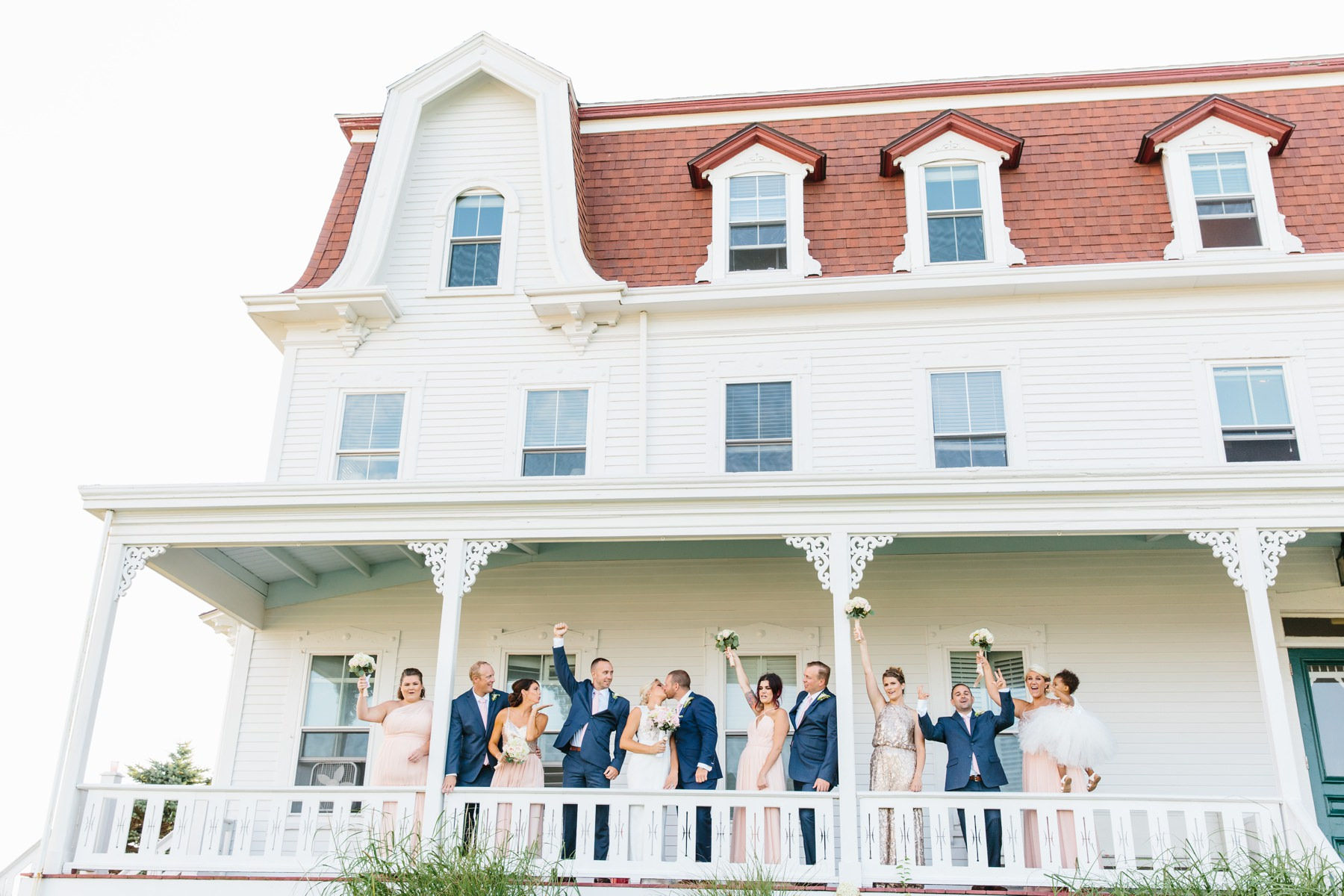 spring house wedding party