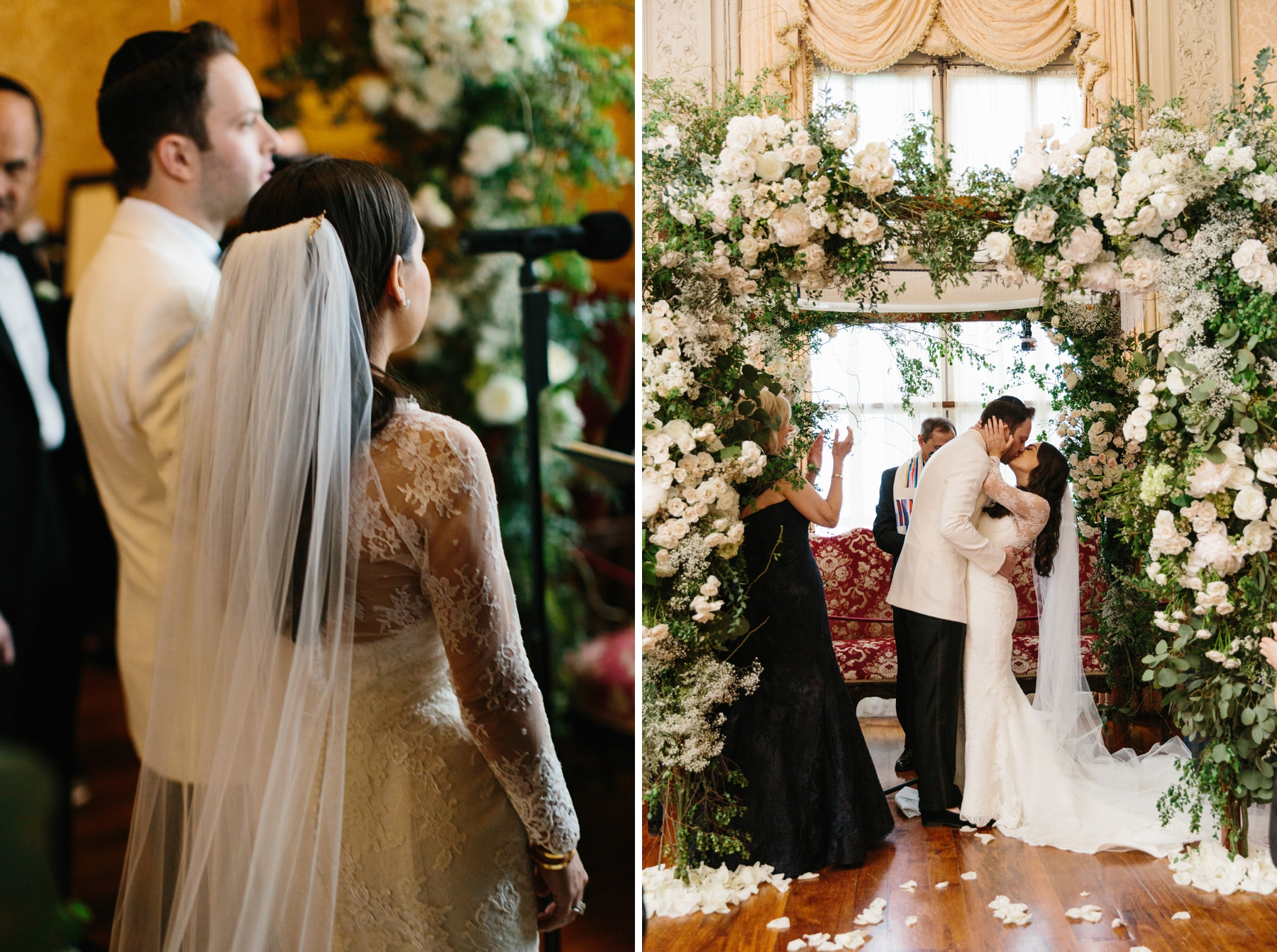 indoor jewish wedding ceremony rosecliff