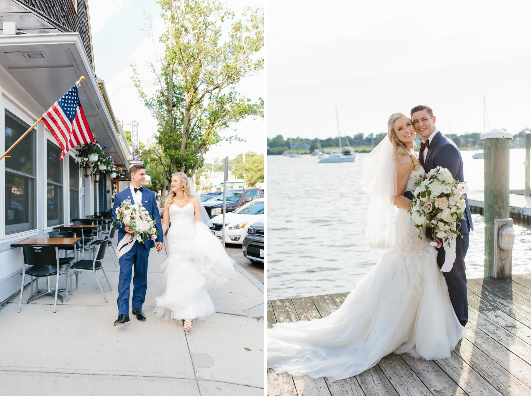downtown bristol ri wedding portraits
