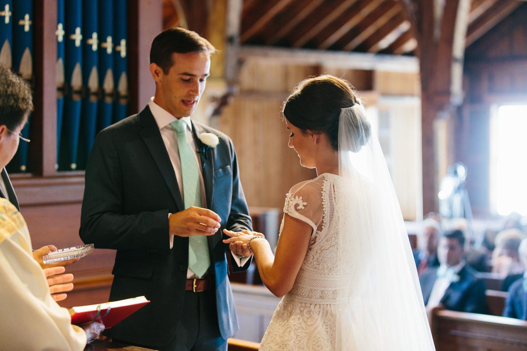 bride and groom weekapaug chapel