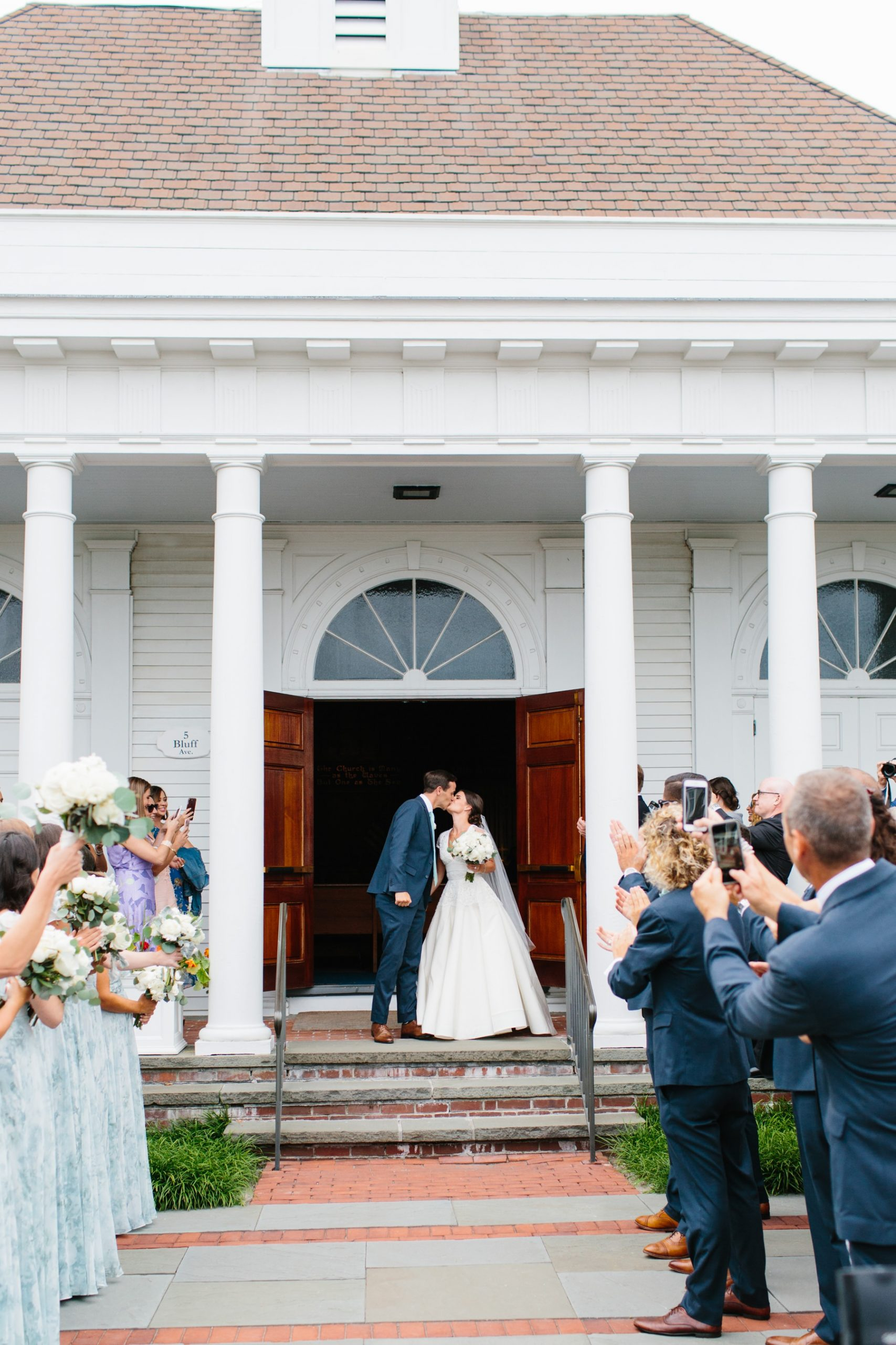 bride and groom watch hill chapel