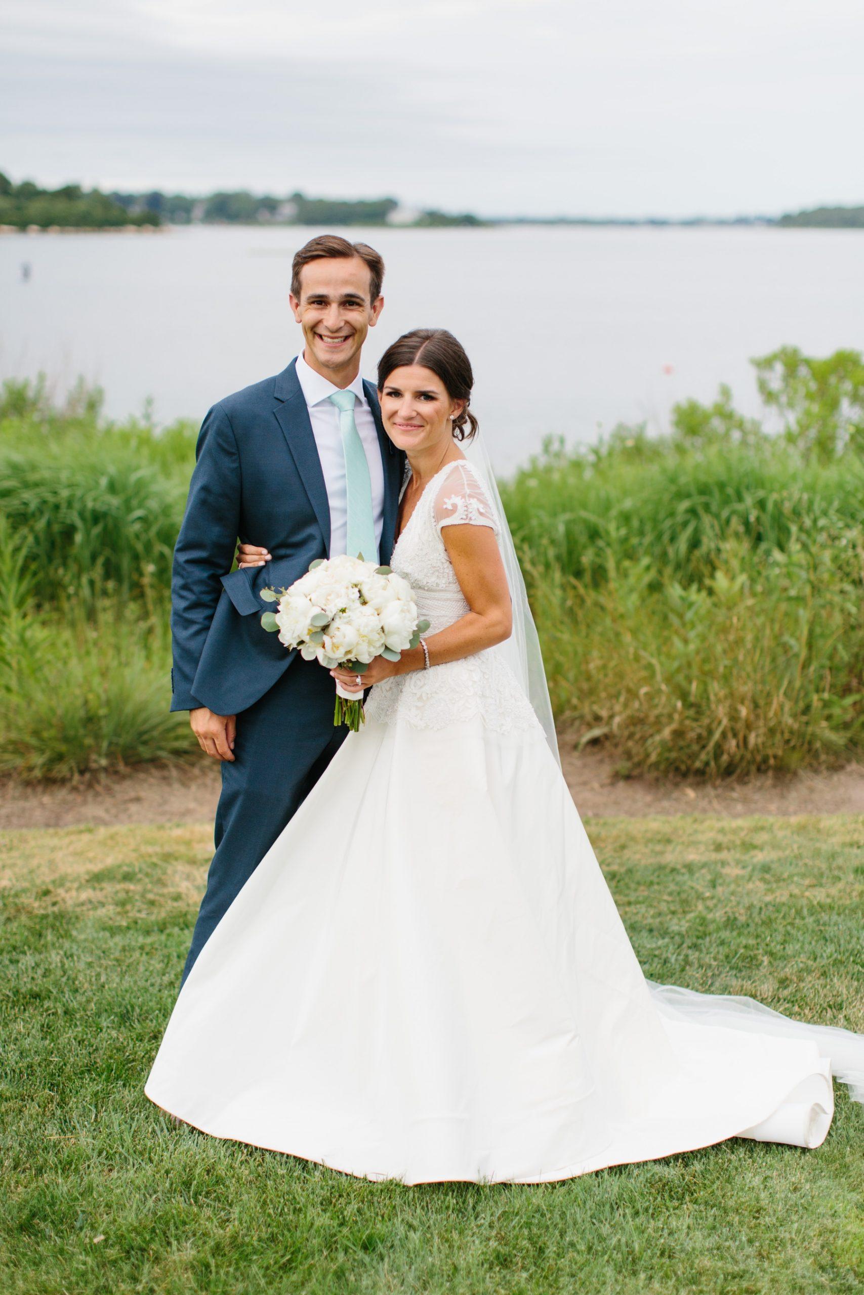 bride and groom weekapaug inn