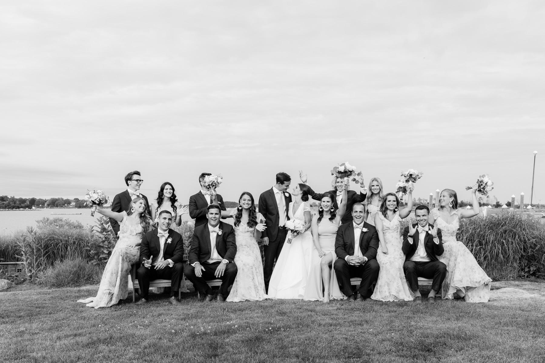 bridal party fun at weekapaug