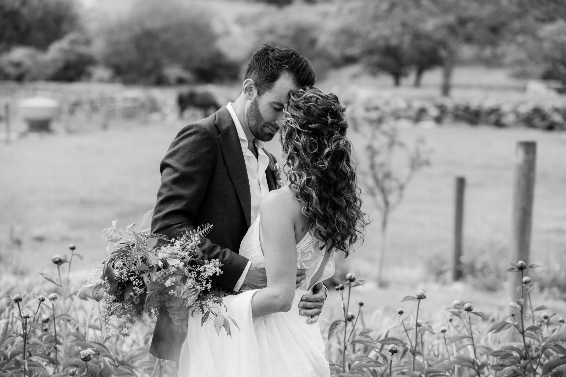 allen farm wedding portrait