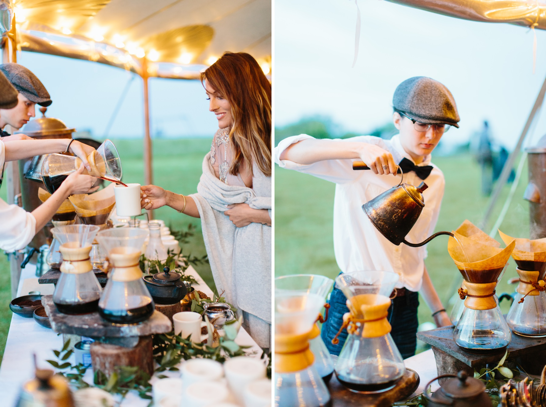 coffee service wedding