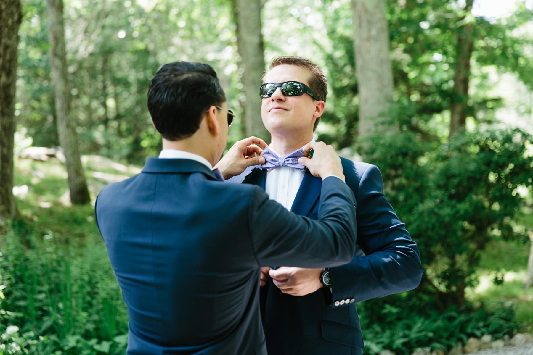 groom bowtie