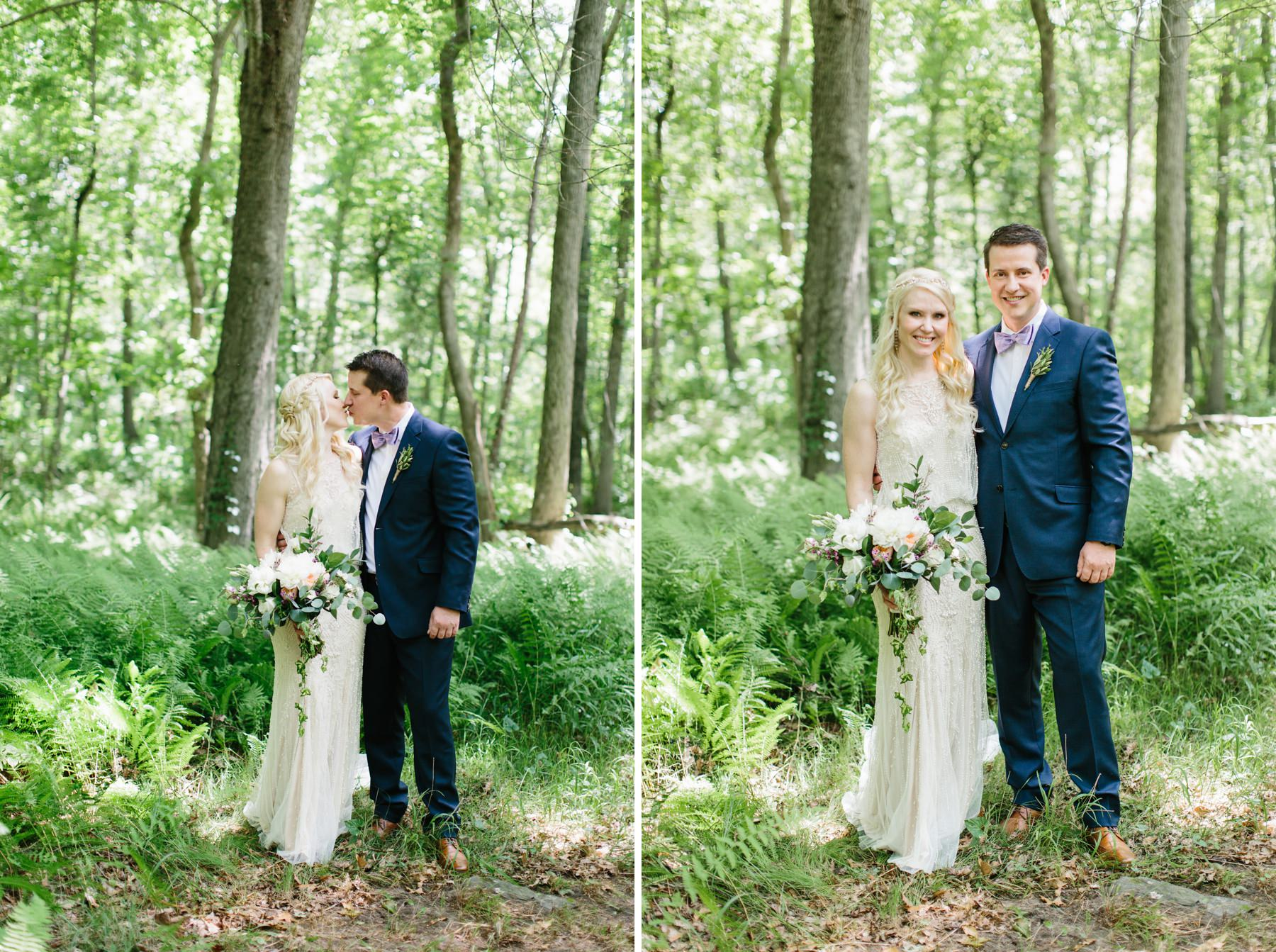 bridal portraits in woods