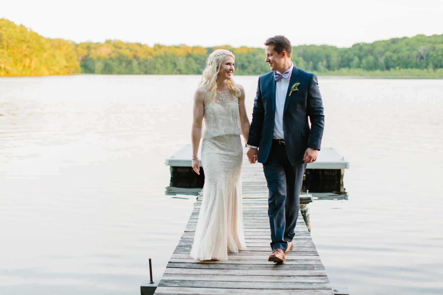 ri wedding on a lake