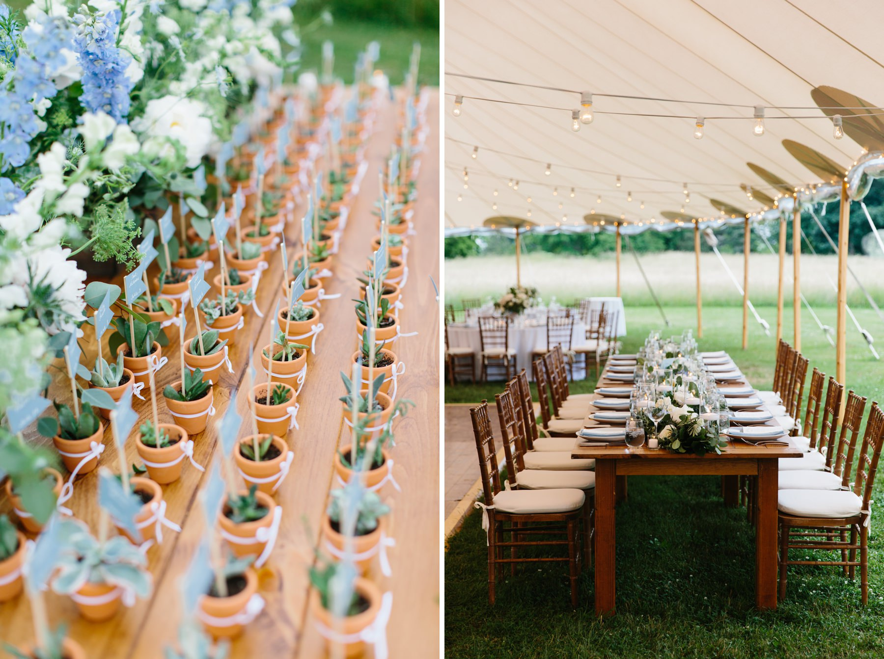 pastel blue wedding details