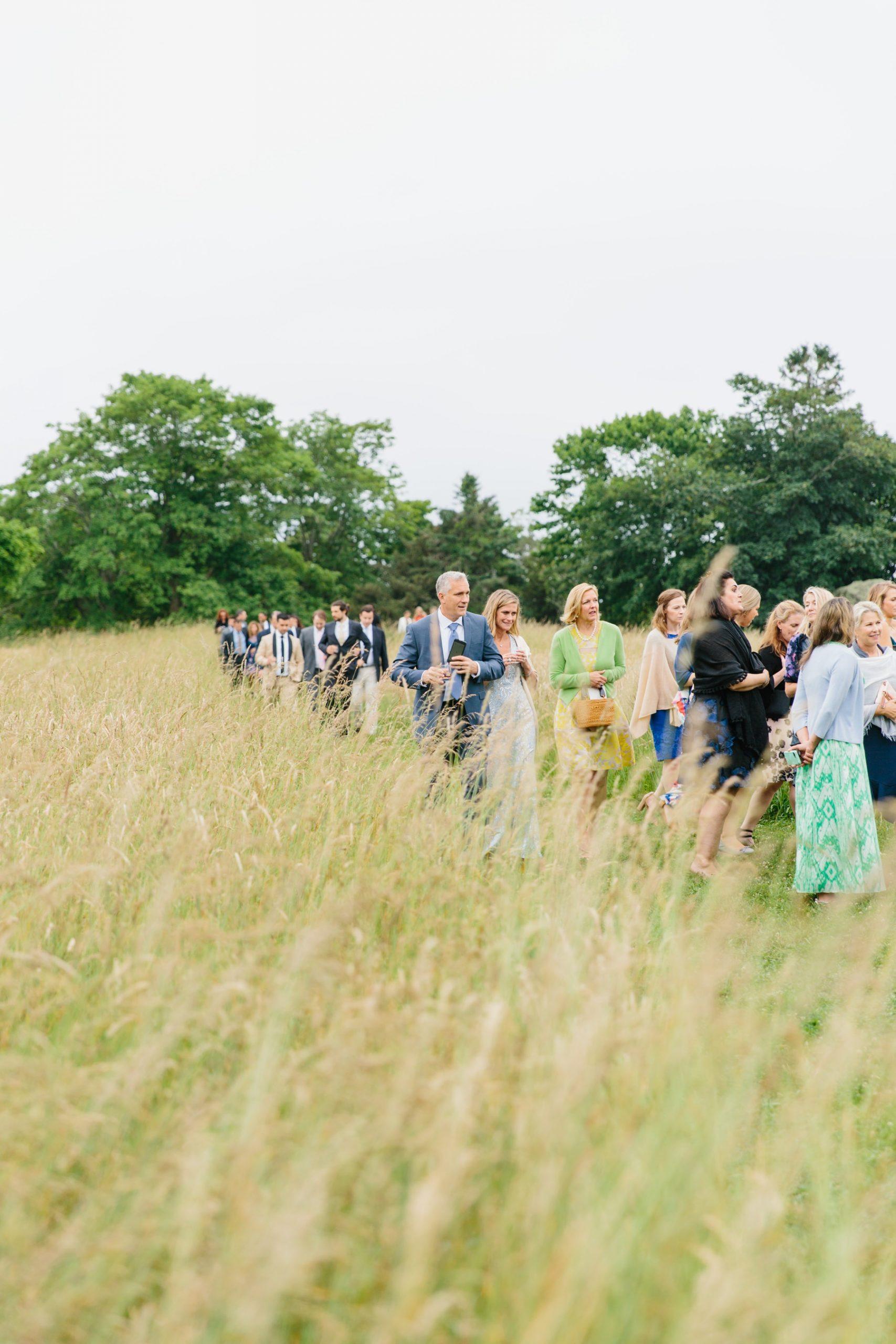 farm wedding parade