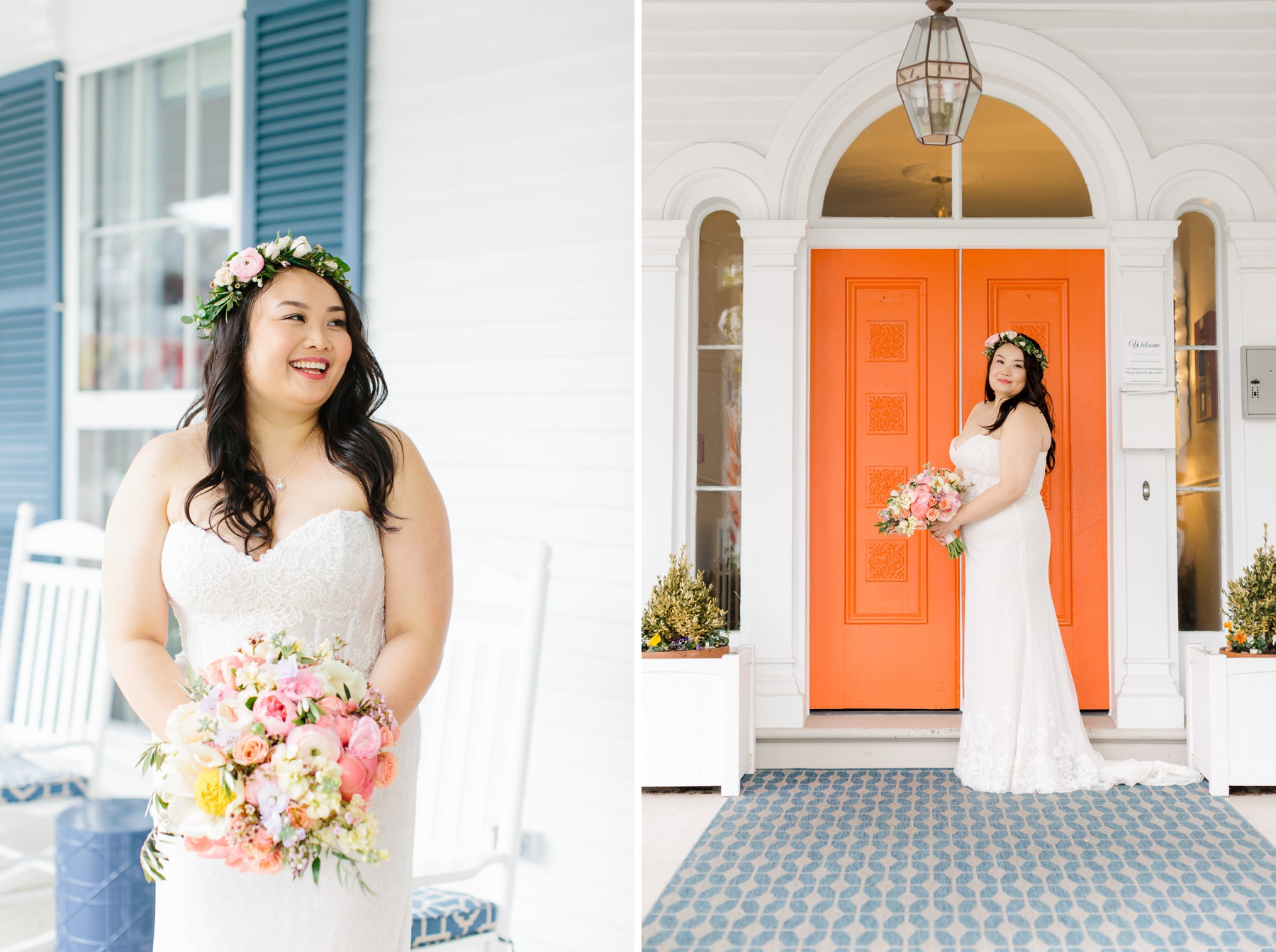 bridal portraits orange door