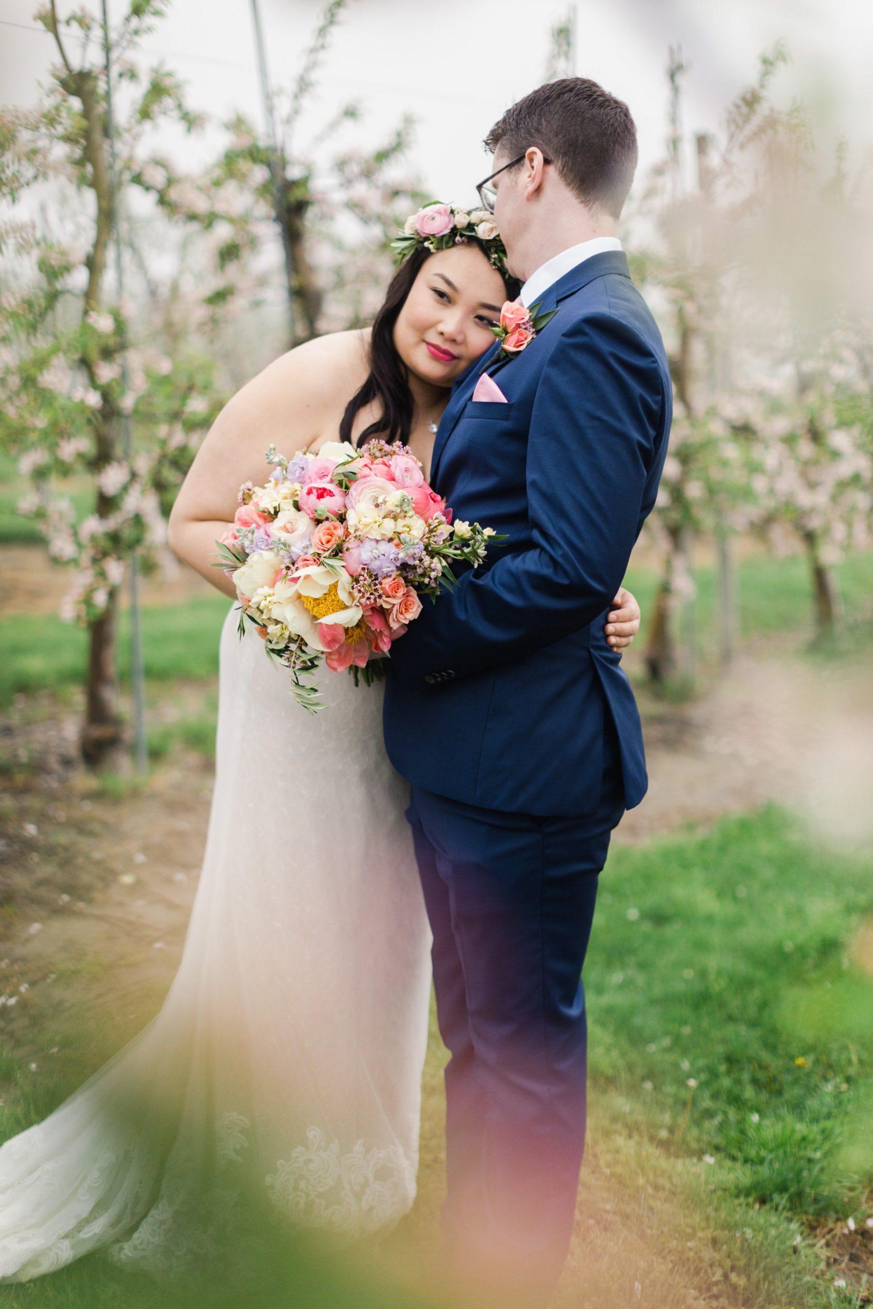 wedding in apple orchard ri
