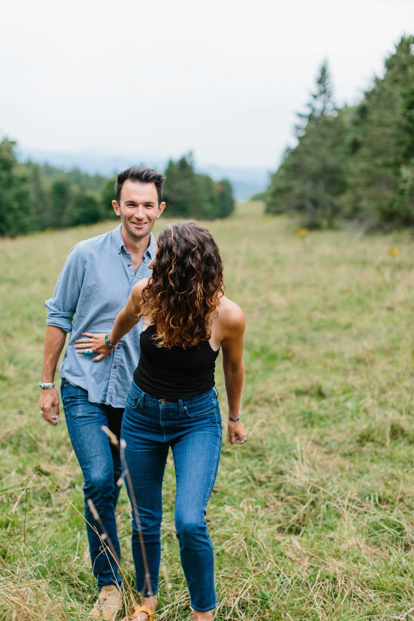 vermont engagement shoot outdoors