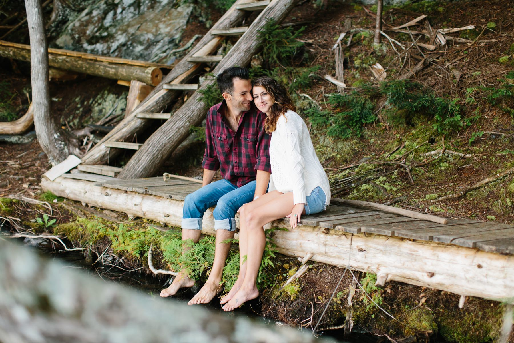 vermont lakeside engagement